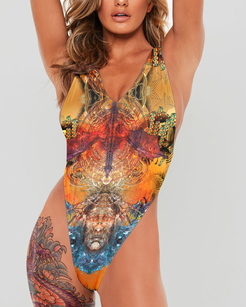 Dragon Spirit Full Body Swimsuit - ShantiBanti