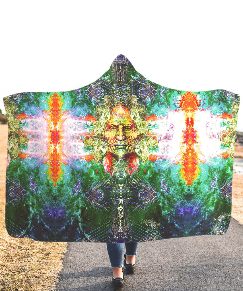 Face Of God Hooded Blanket - ShantiBanti