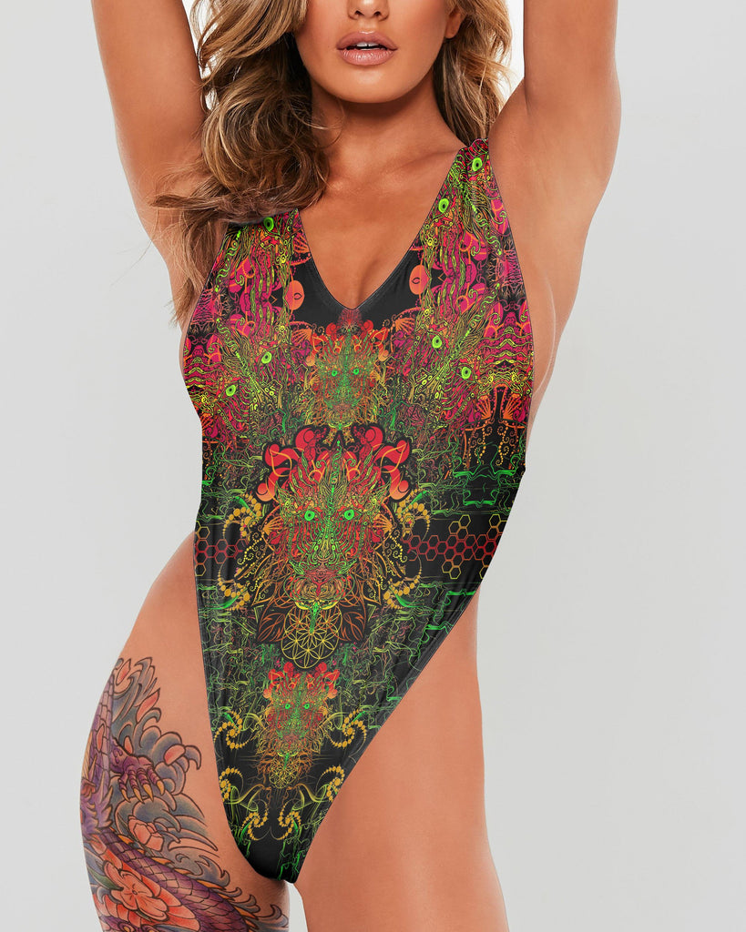 Fire Dragon Full Body Swimsuit - ShantiBanti