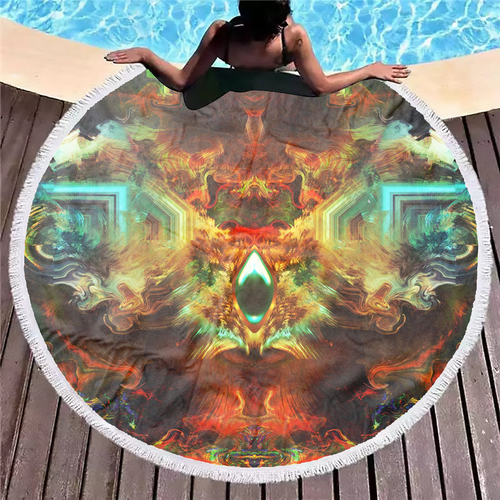 Fire Eye Ocean Beach Blanket - ShantiBanti