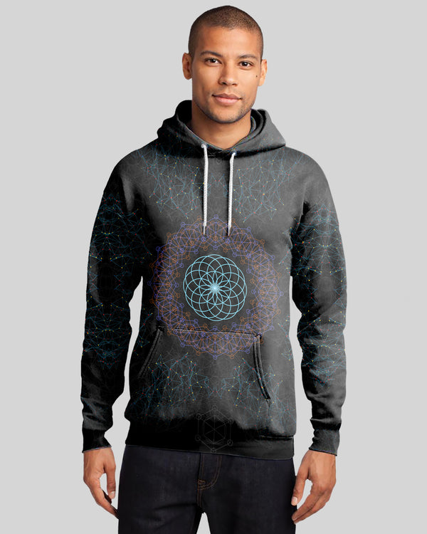 Flower Of Life Sacred Geometry Men's Hoodie