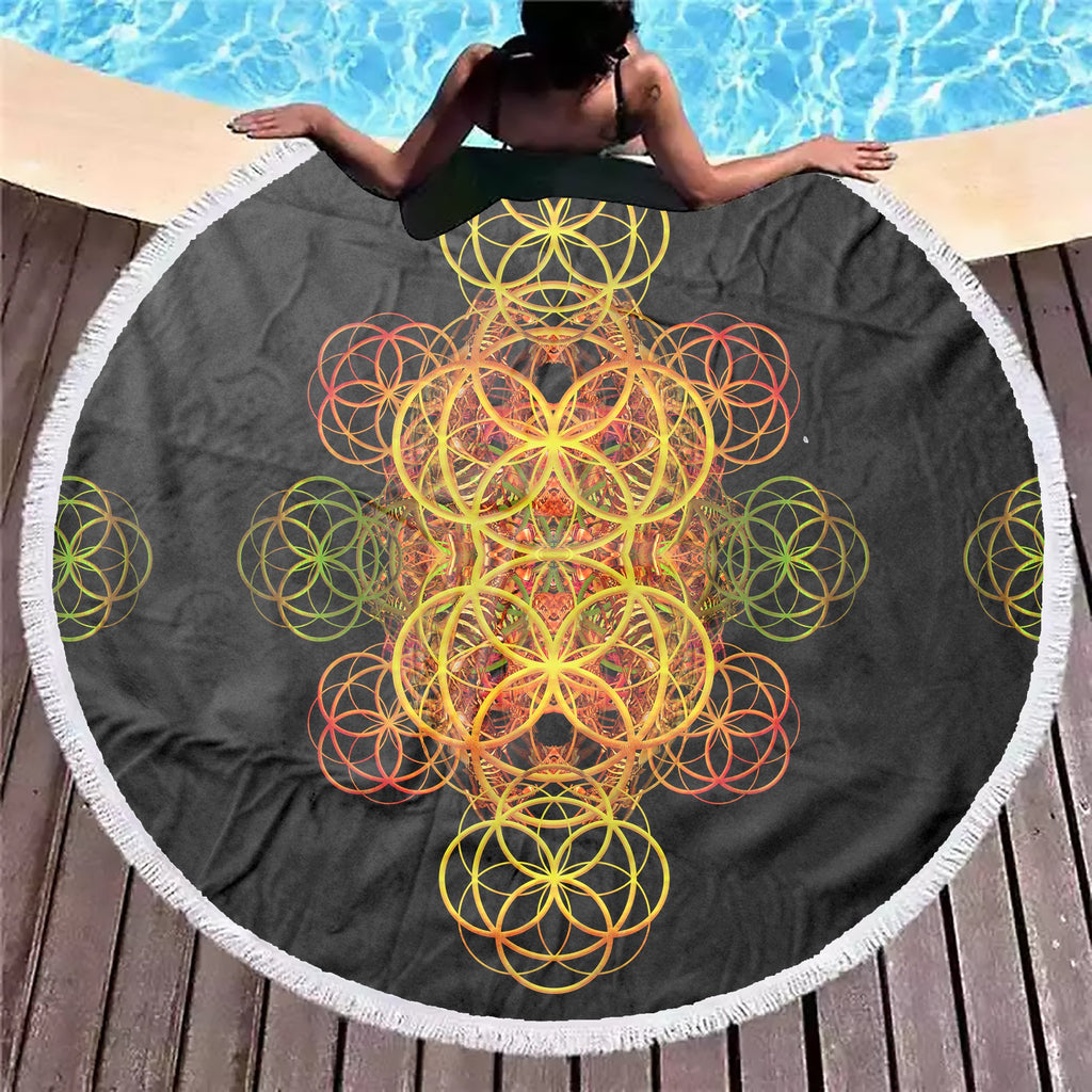 Flower Of Life Beach Blanket - ShantiBanti