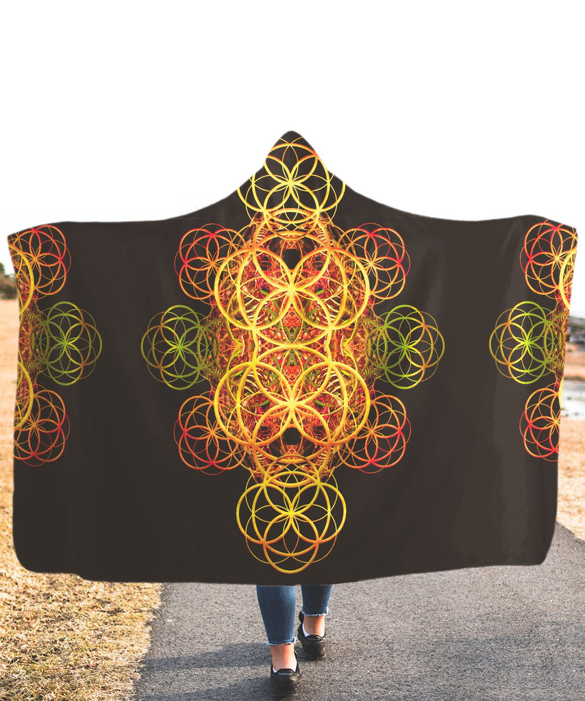 Flower Of Life Hooded Blanket - ShantiBanti