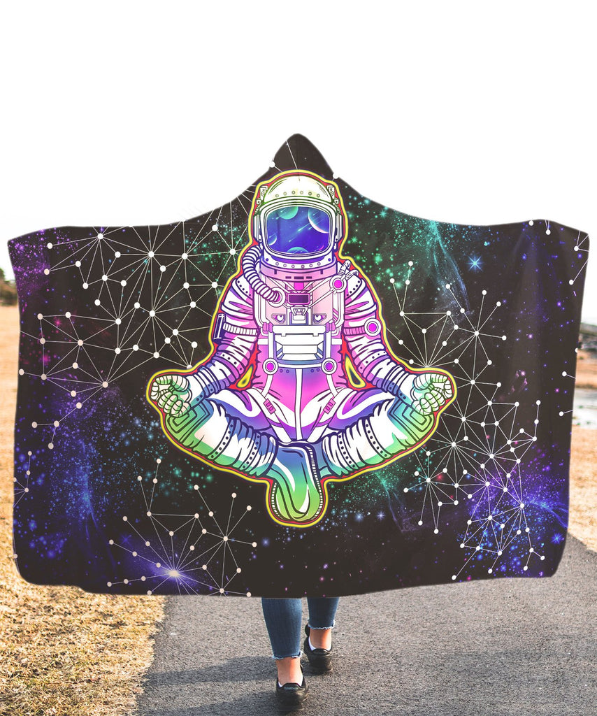 Galaxy Yoga Astronaut Hooded Blanket - ShantiBanti