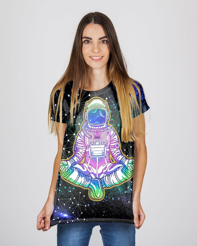 Galaxy Yoga Astronaut Women's T-Shirt