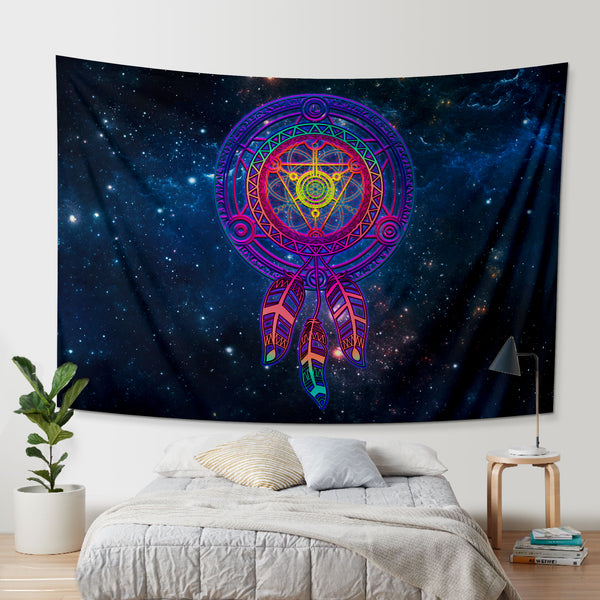Galaxy sacred geometry Dreamcacter Tapestry
