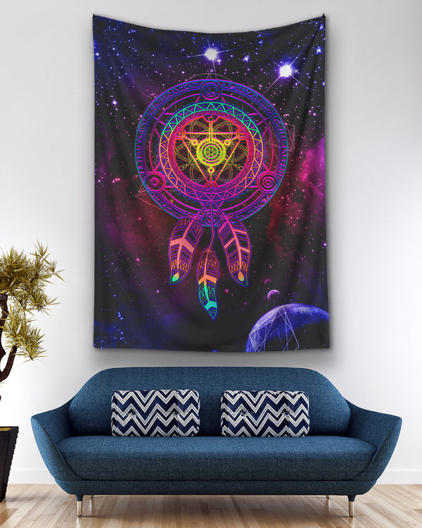 Galaxy sacred geometry Life Dreamcatcher Ho Tapestry