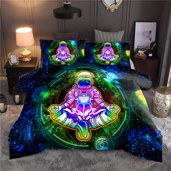 Geometric Astronaut Bedding Set - ShantiBanti