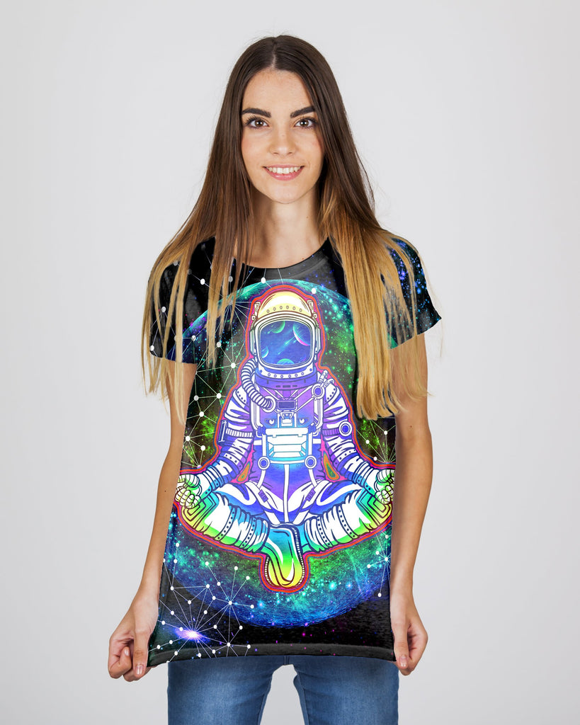 Geometric Moon Astronaut Women's T-Shirt