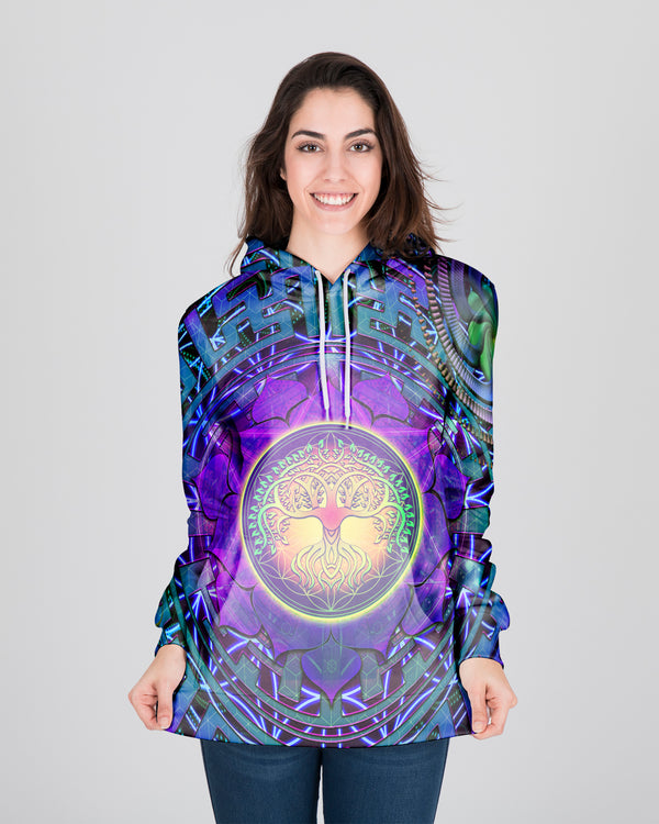 Geometry Sacred Tree Of Life Women's Hoodie