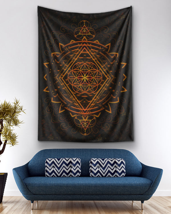 Golden Power Of Life Ho Tapestry