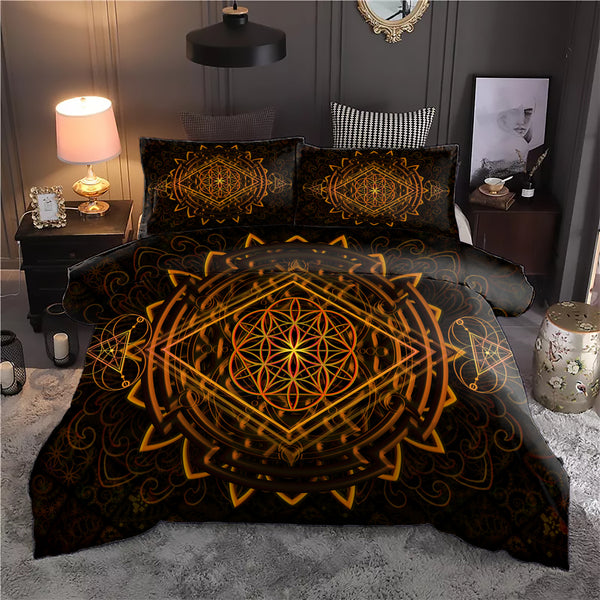 Golden Power Of Life Bedding Set
