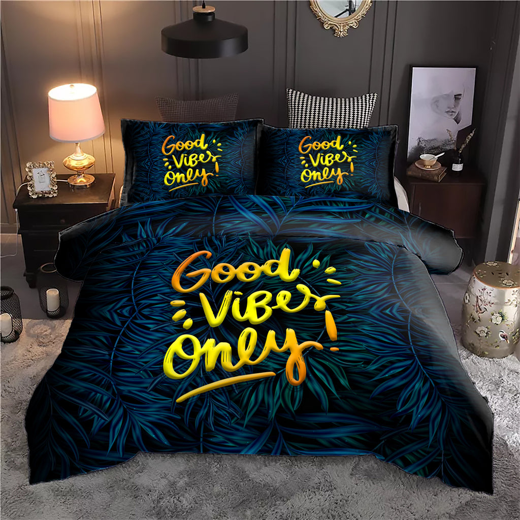 Good Vibes Only Bedding Set