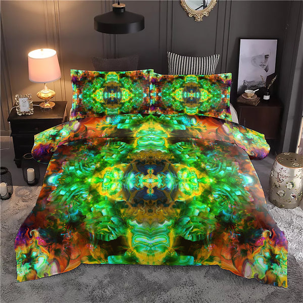 Acid Melt Green Bedding Set - ShantiBanti