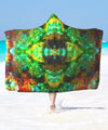 Acid Melt Green Hooded Blanket - ShantiBanti