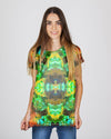 Acid Melt Green Women's T-Shirt - ShantiBanti