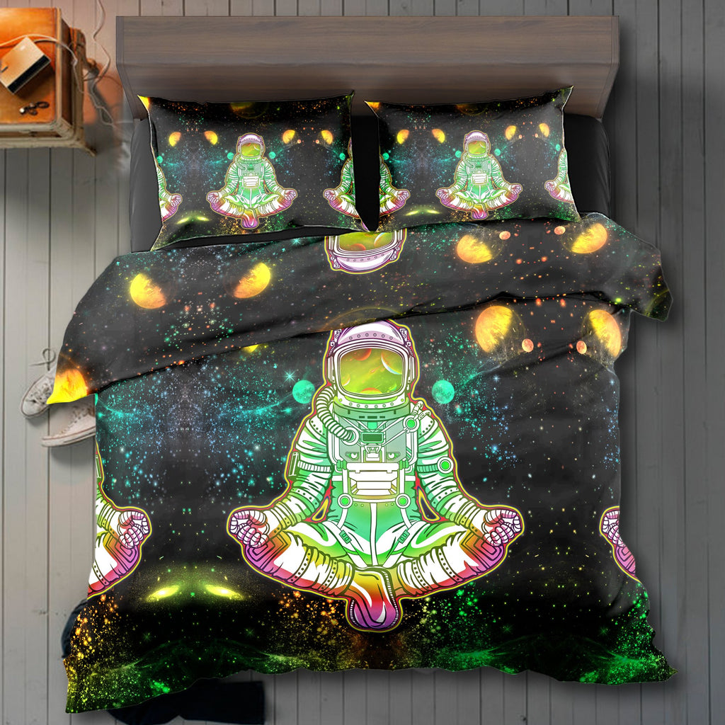 Astronaut Green Bedding Set - ShantiBanti