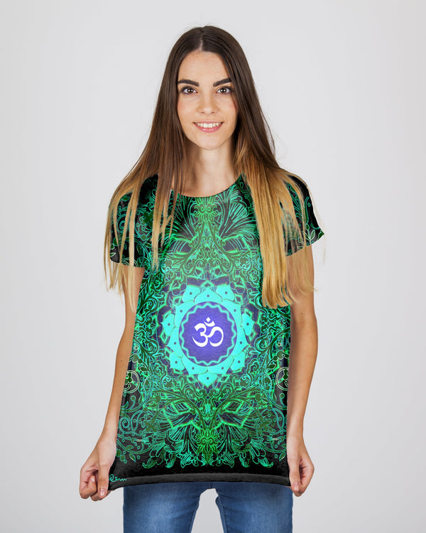 Green Fire Om Women's T-Shirt
