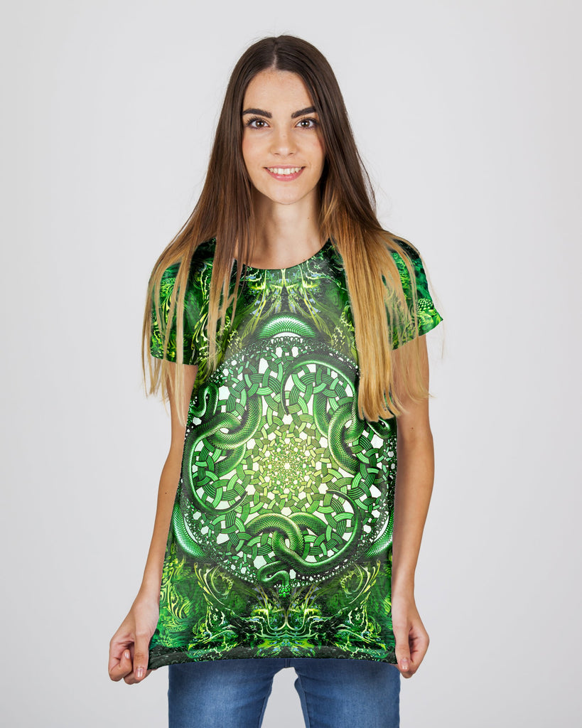 Psy Snake Green Women's T-Shirt