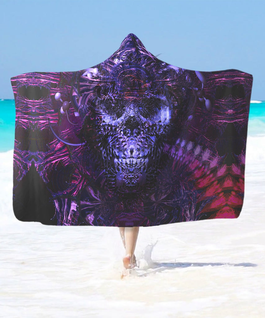 Hell's Garage Hooded Blanket - ShantiBanti