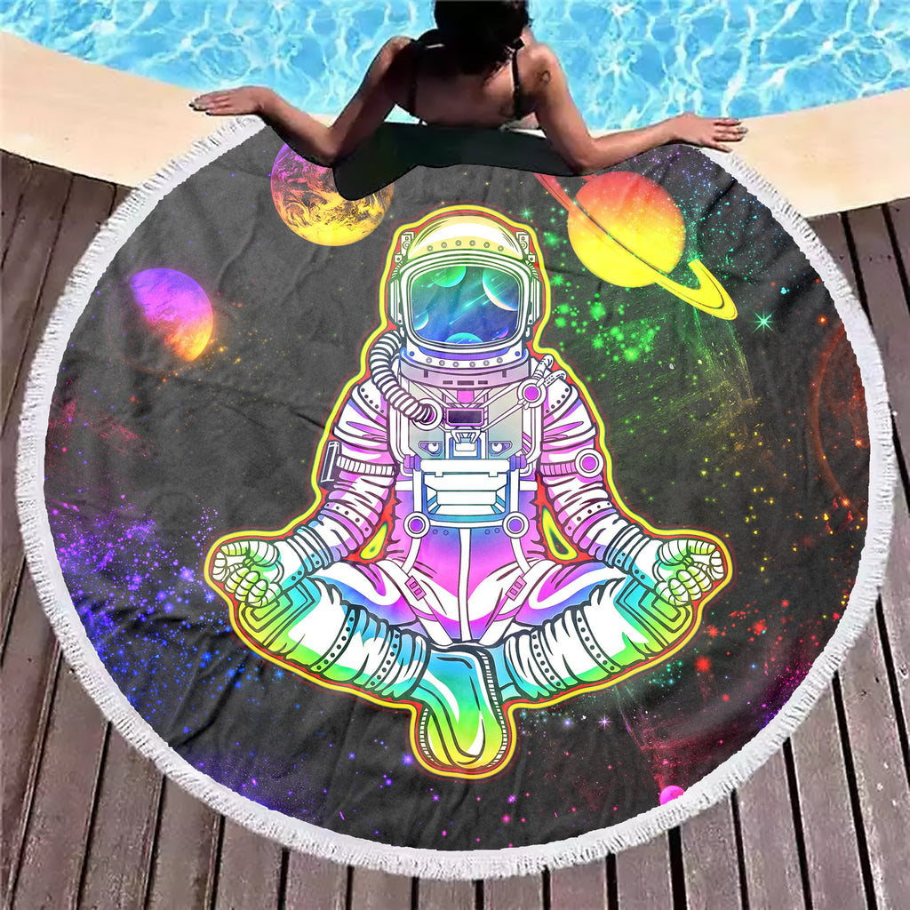 Into The Galaxy Astronaut Beach Blanket
