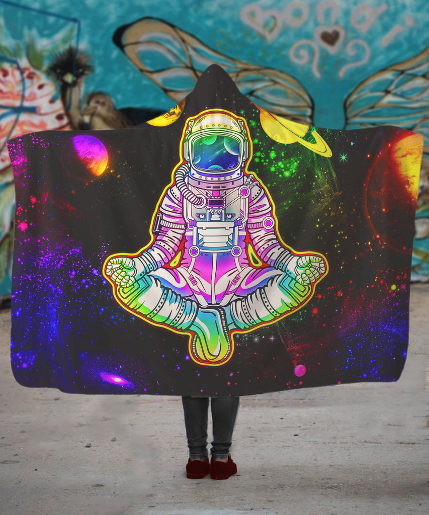 Into The Galaxy Astronaut Hooded Blanket
