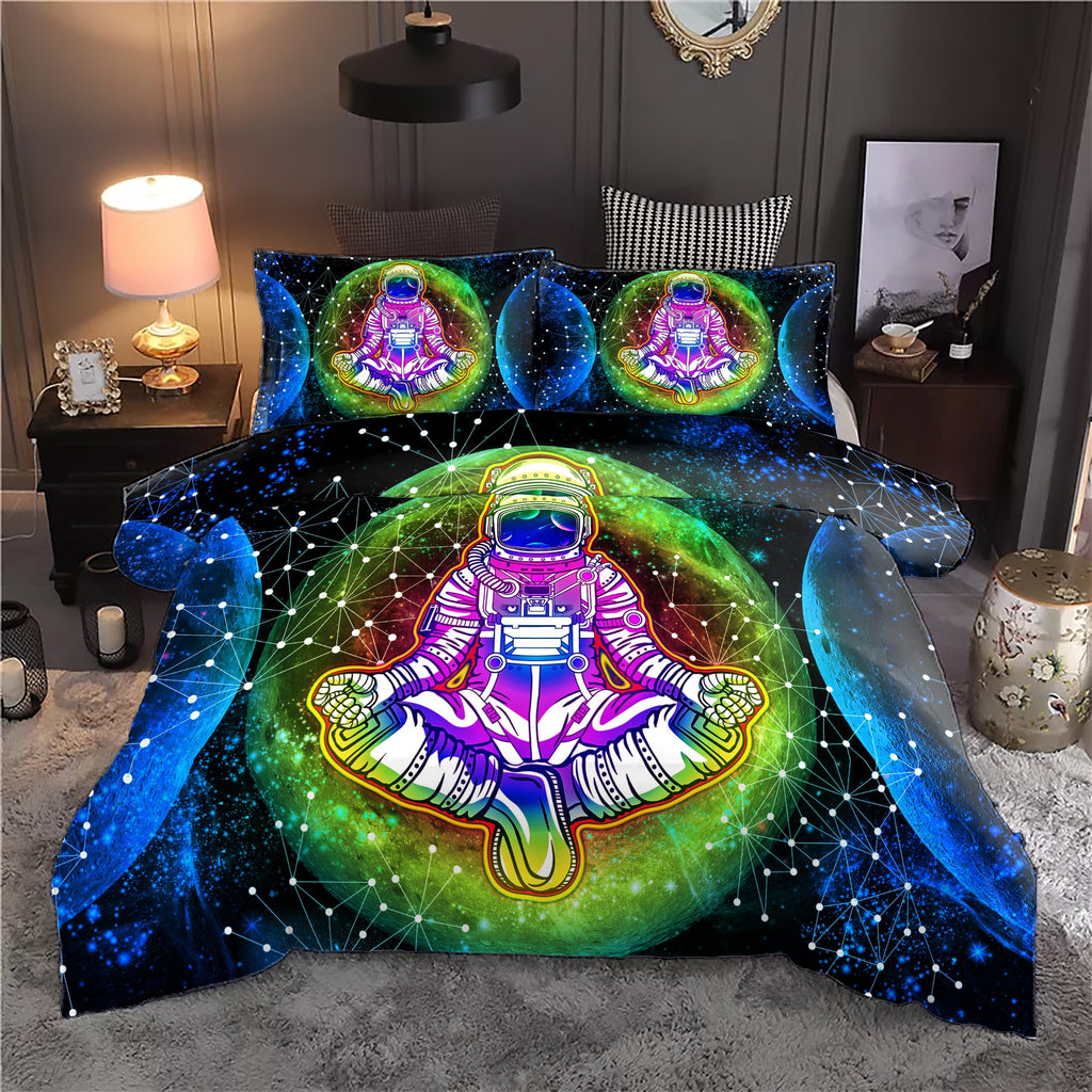 Into The Moon Astronaut Bedding Set