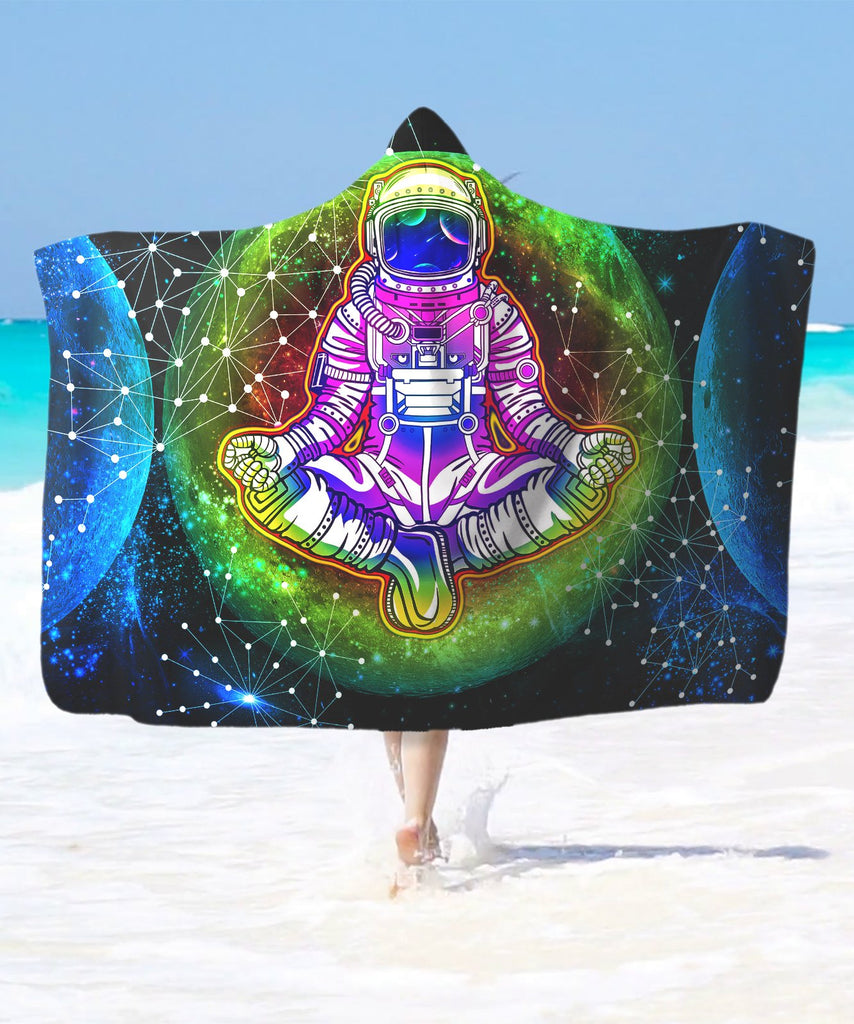 Into The Moon Astronaut Hooded Blanket
