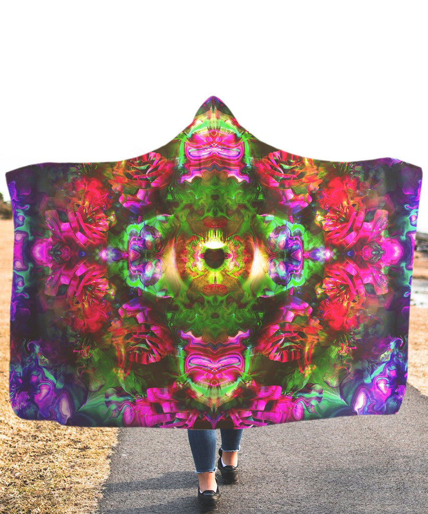 LSD Eye Hooded Blanket