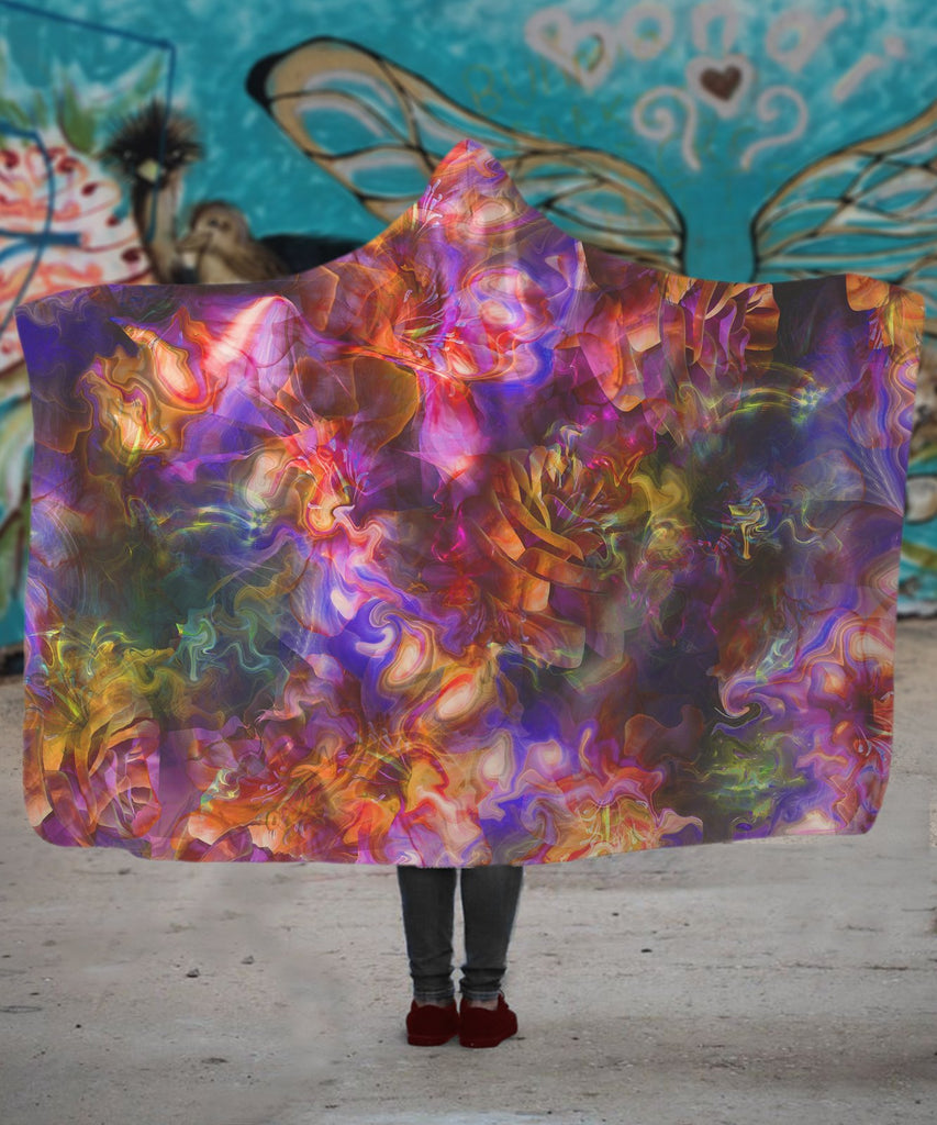 LSD Rose Hooded Blanket