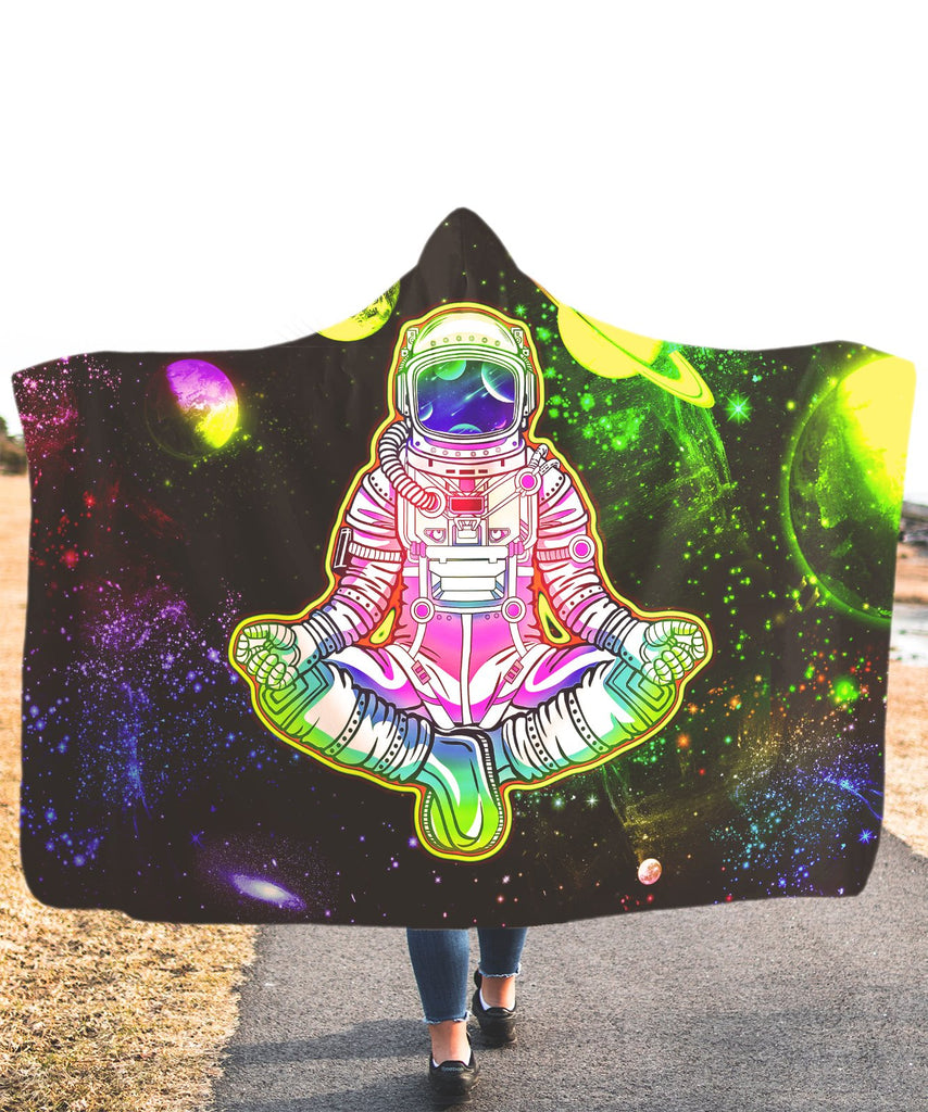 Lonely Astronaut Hooded Blanket