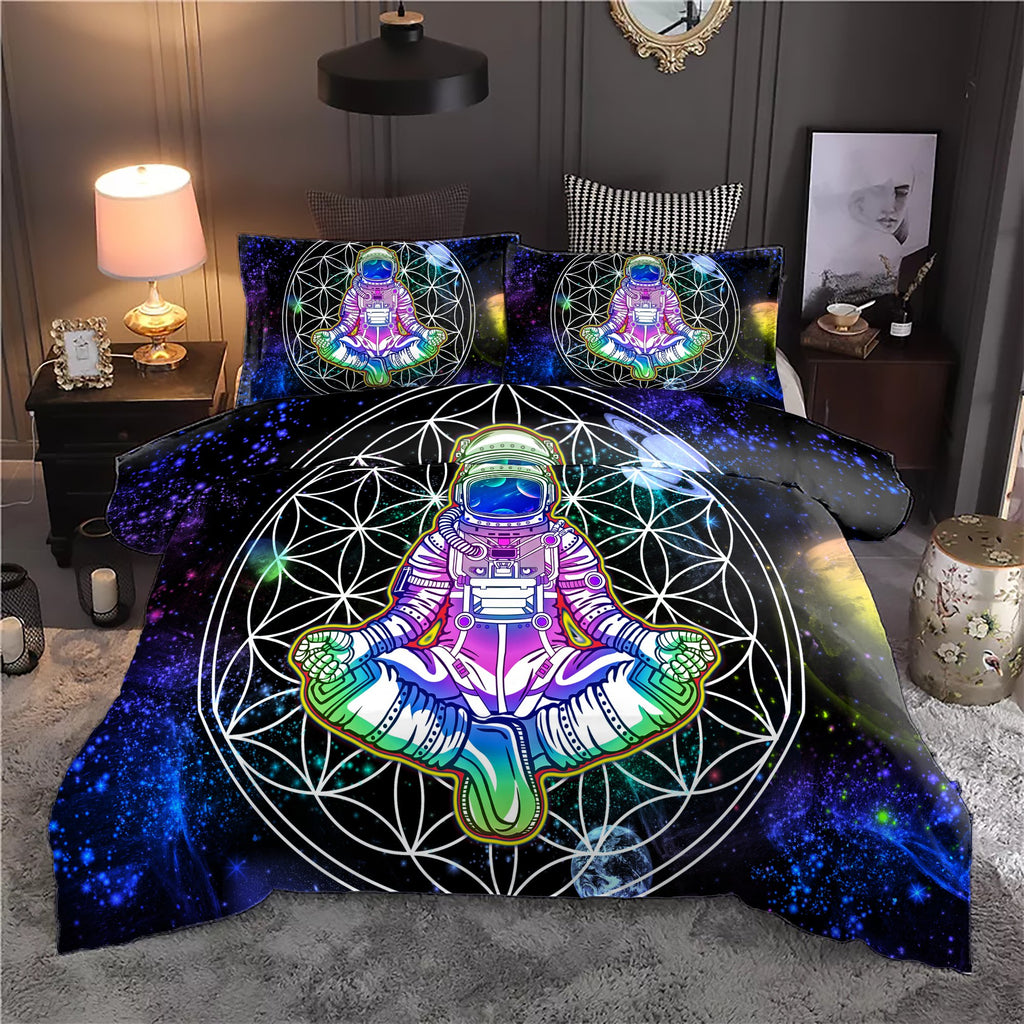 Mandala Astronaut Bedding Set