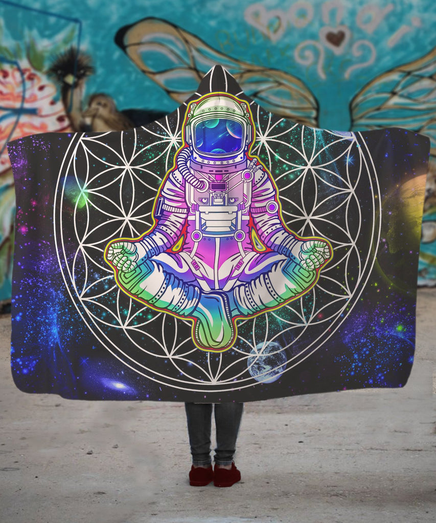 Mandala Astronaut Hooded Blanket