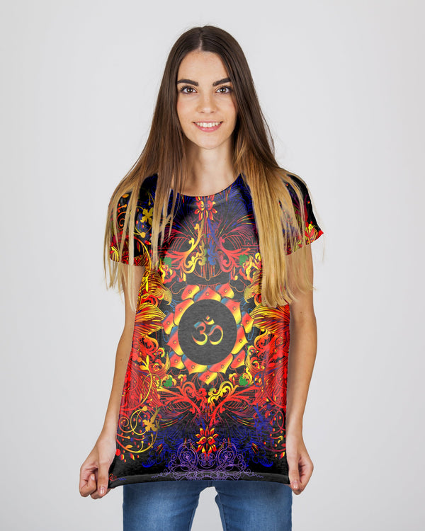 Mandala Fire Om Women's T-Shirt