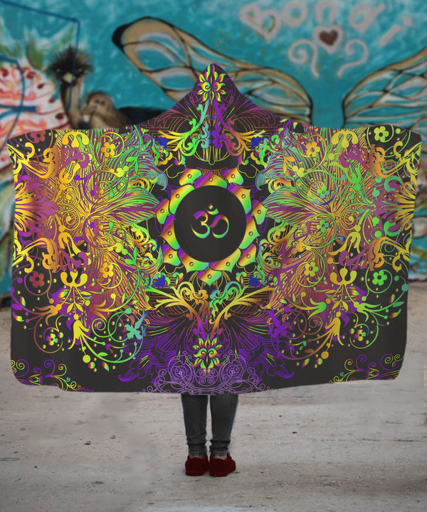 Mandala Insight Om Hooded Blanket