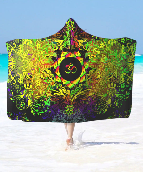 Mandala Life Om Hooded Blanket