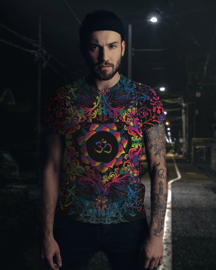 Mandala Natural Om Men's T-Shirt