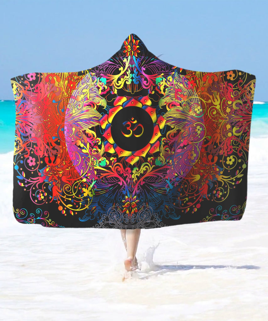 Mandala Om Halo Hooded Blanket