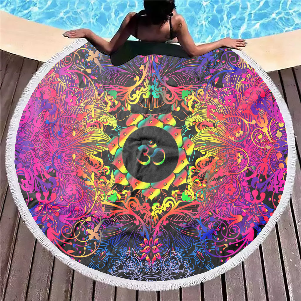 Mandala Power Om Beach Blanket