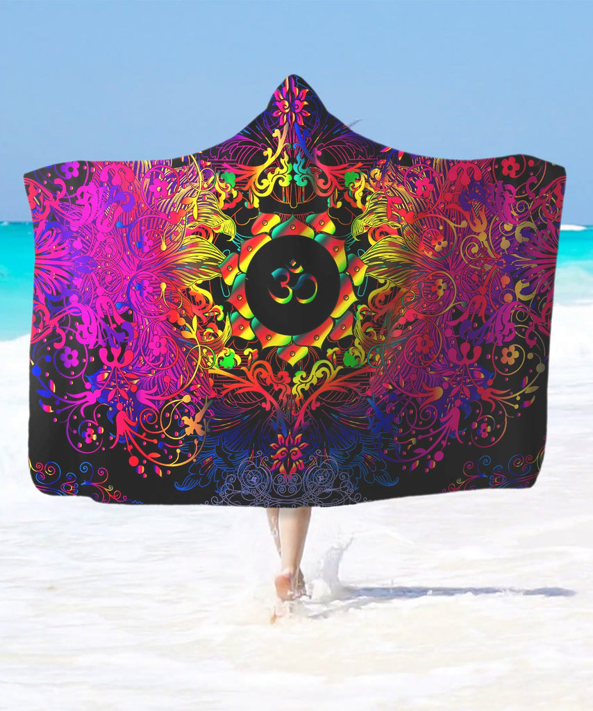 Mandala Power Om Hooded Blanket