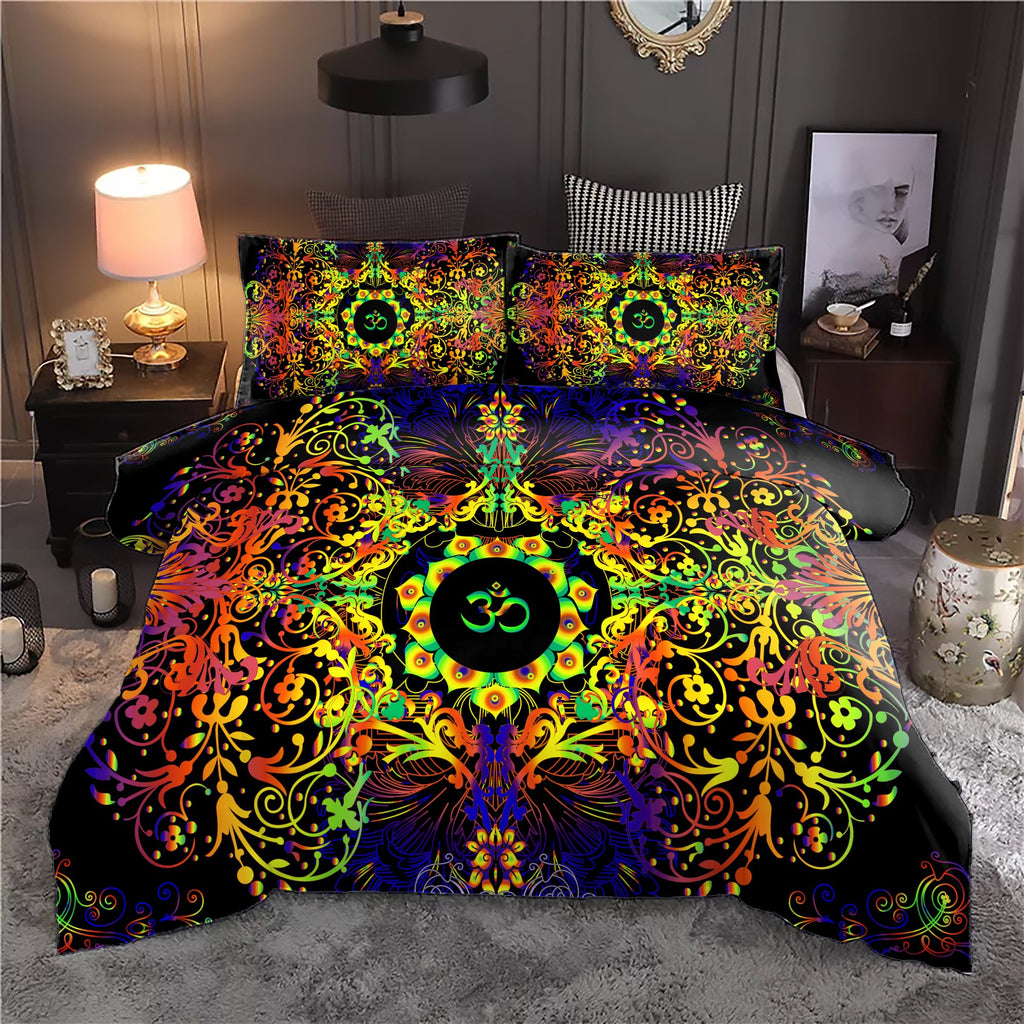 Mandala Yellow Om Bedding Set