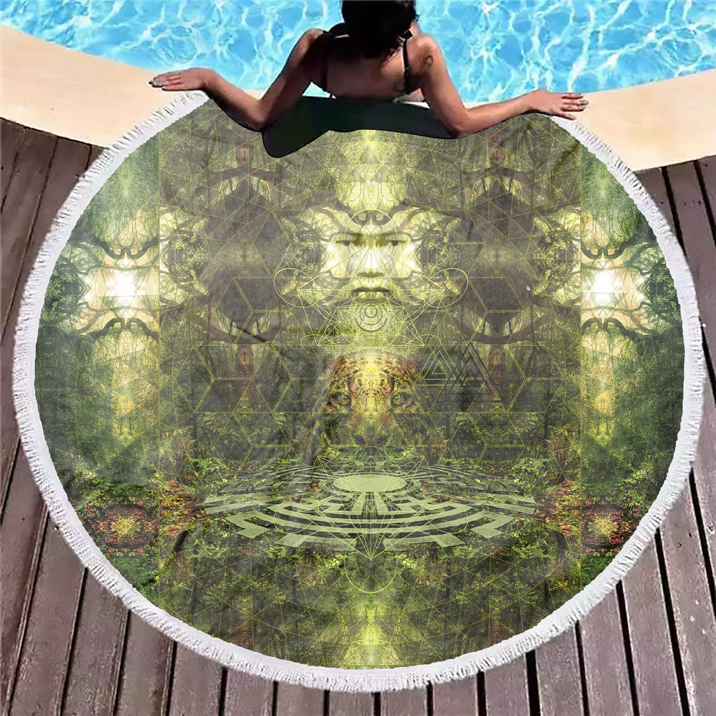 Maya Vibe Green Beach Blanket