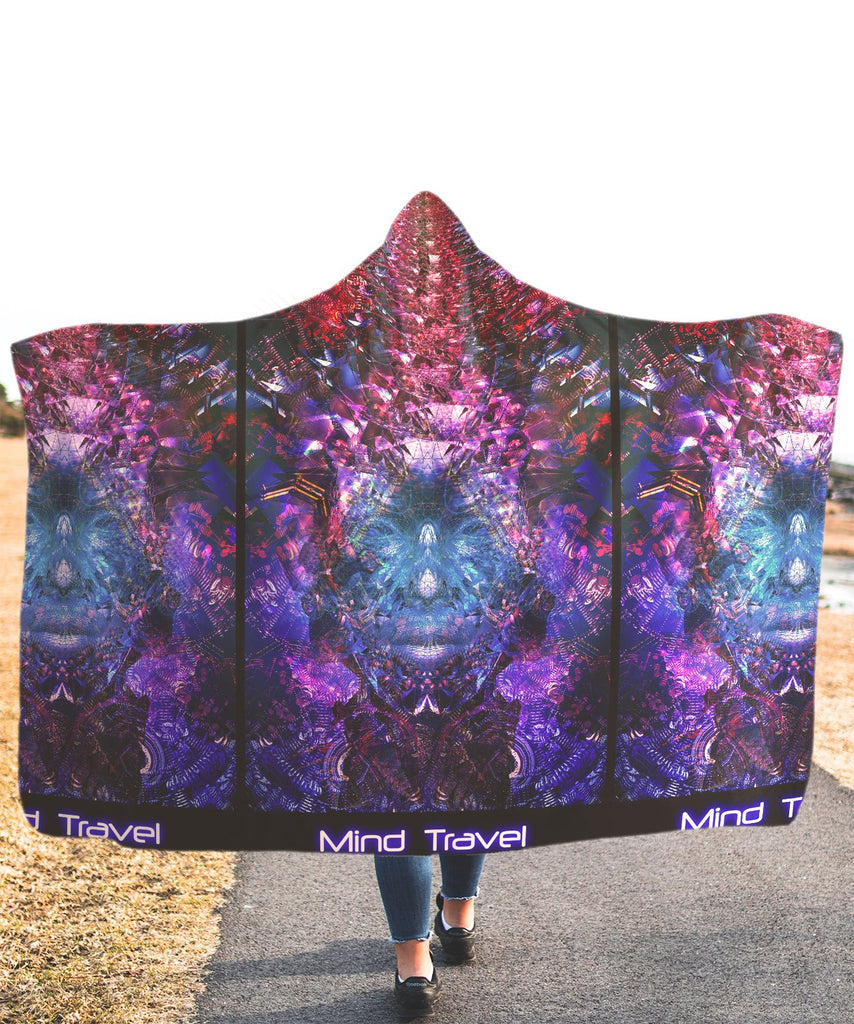 Mind Travel Blue Hooded Blanket
