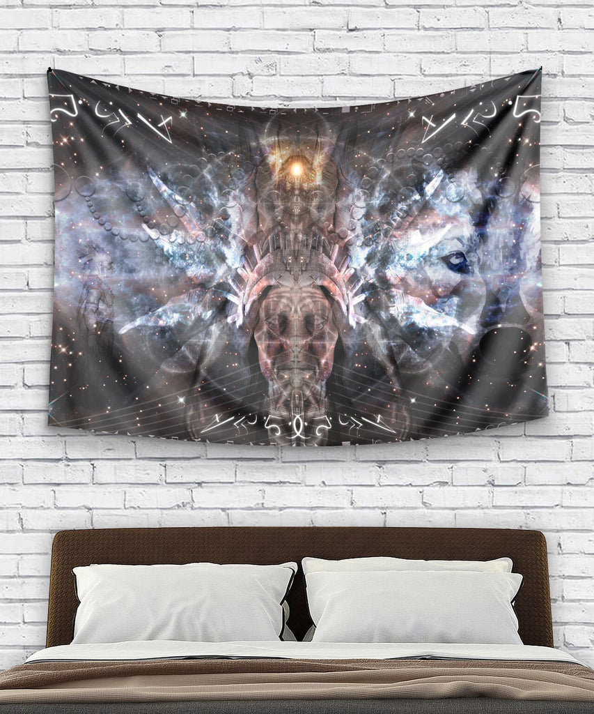 Native Uman Wolf Tapestry