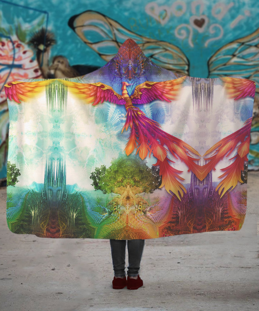 Phoenix Flight Hooded Blanket