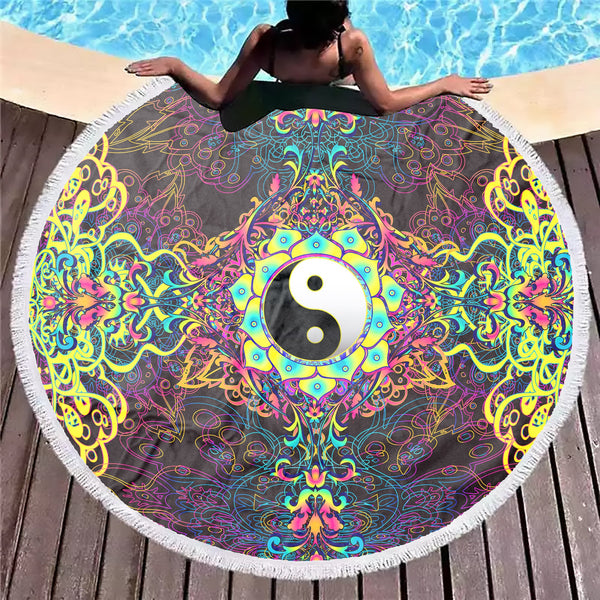 Power Yin Yang Beach Blanket