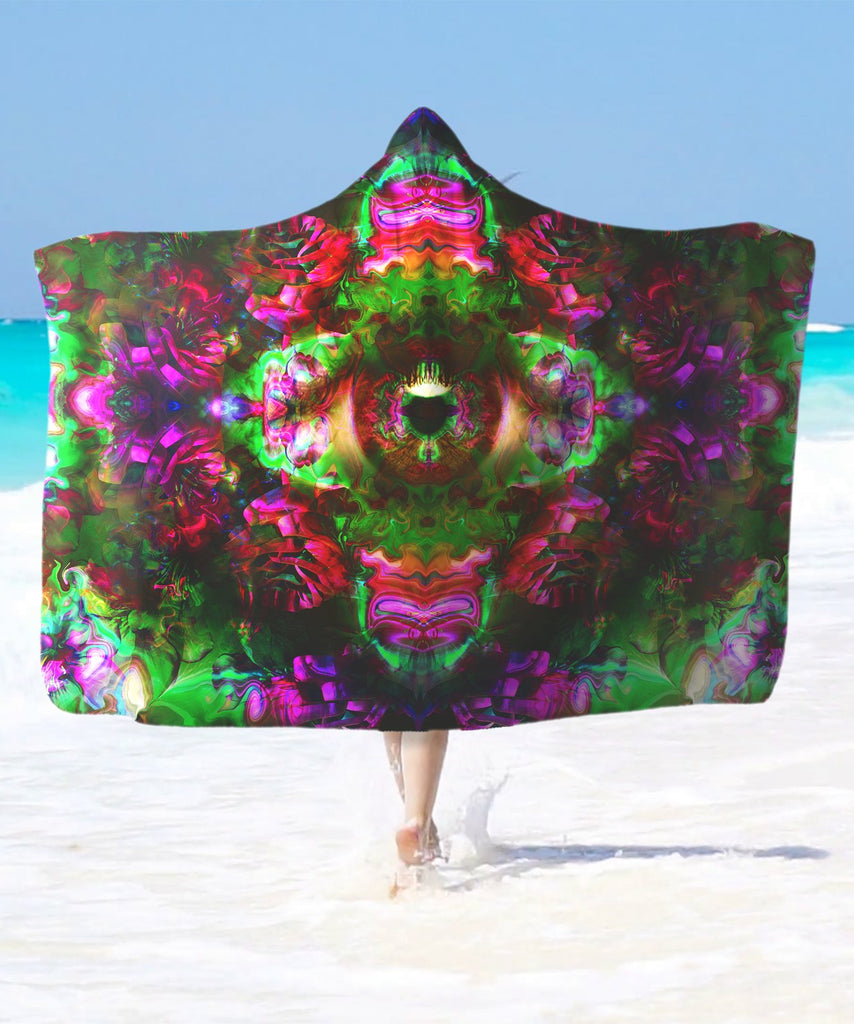 Psy Rose Eye Hooded Blanket