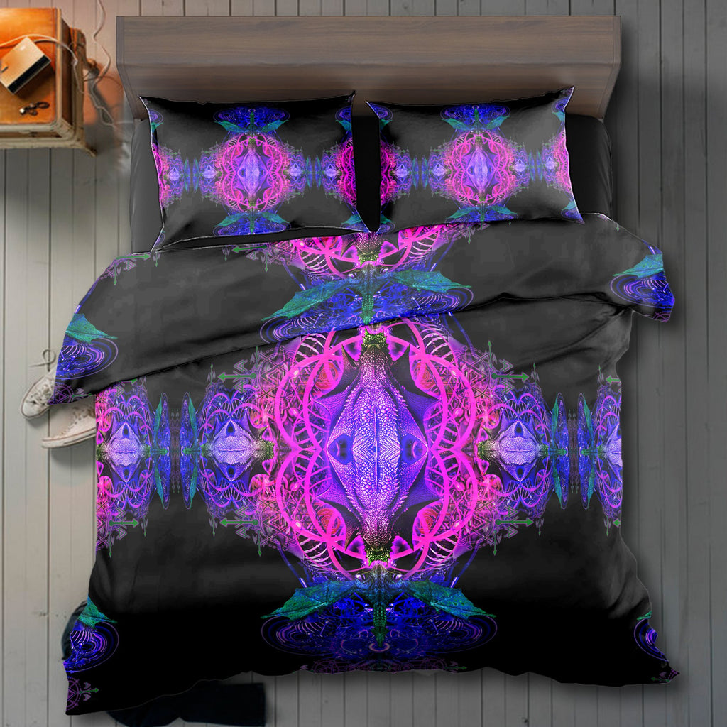 Dragon Snake Purple Bedding Set - ShantiBanti