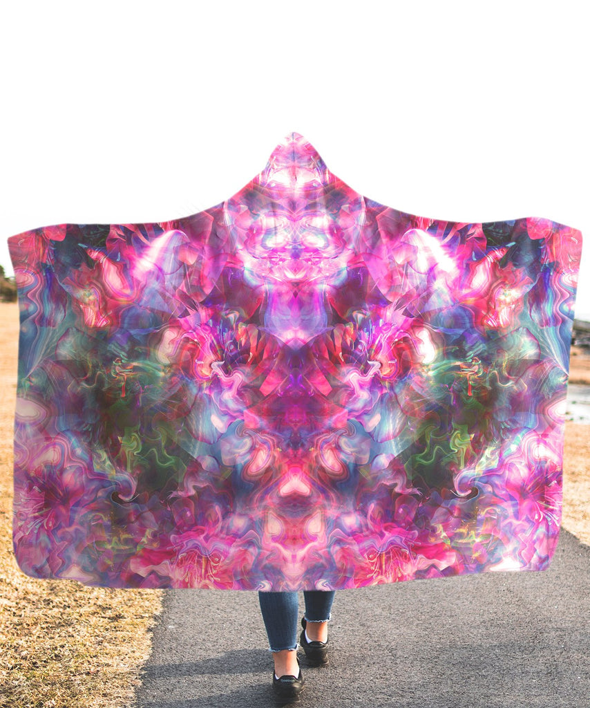 Rose Trip Hooded Blanket