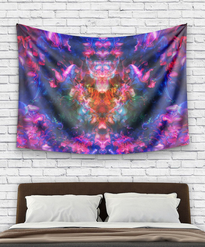 Rose Trippy Flower Tapestry